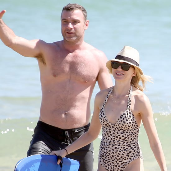 Naomi Watts at the Beach With Shirtless Liev Schreiber