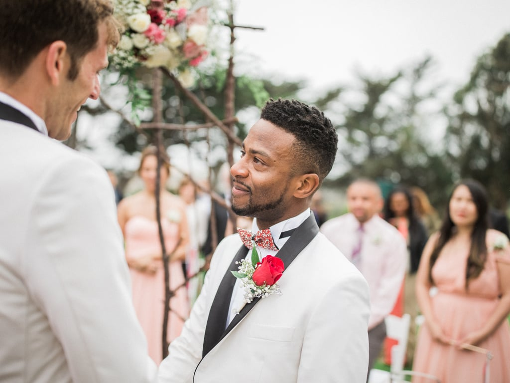 Mark and Darin's intimate California wedding was filled with love and glitter. See the wedding here!