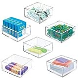 mDesign Plastic Stackable Drawer Organiser