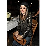 "Rachel Bilson opted for a metallic and black brocade jacket at a Nylon  event in November 2011.  Shop the look: <iframe src=""http://widget.shopstyle.com/widget?pid=uid5121-1693761-41&look=4300525&width=3&height=3&layouttype=0&border=0&footer=0"" frameborder=""0"" height=""244"" scrolling=""no"" width=""286""></iframe>"