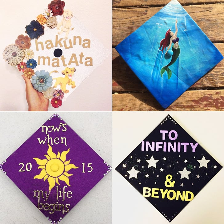 disney graduation cap ideas popsugar smart living