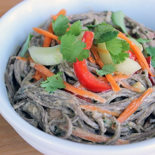Soba Noodle Salad With Ginger Peanut Dressing