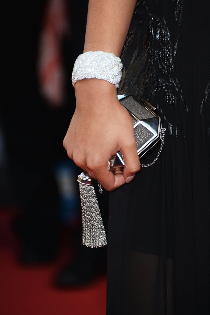 Chanel Iman carried a Louis Vuitton minaudière.