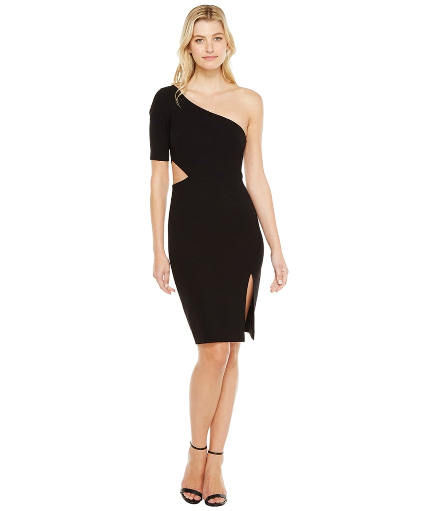 Jill Stuart One Shoulder Mini with Sleeve/Side Cut Out