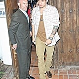 John Mayer and Katy Perry left a restaurant together in LA.
