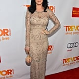 The honoree lit up the red carpet in a gorgeous Marchesa Resort '13 gown, complete with a Temperley London purse and Charlotte Olympia heels, at an event for The Trevor Project in December 2012.