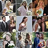 """Many celebrities have walked down the aisle without saying """"I do,"""" and POPSUGAR Celebrity is taking a look at all of the stars to slip on a bridesmaid dress over the years."""