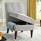 Modern Linen Upholstered Accent Chair