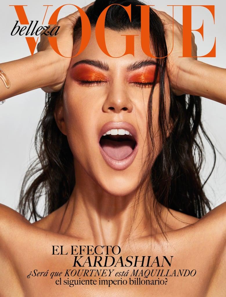 Kourtney Kardashian's Orange Shadow in Vogue Mexico