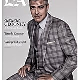George Clooney boldly wore a three-piece plaid suit for the December cover of LA Times Magazine.