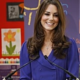 Kate Middleton Gives Her First Public Speech in Gorgeous Royal Blue