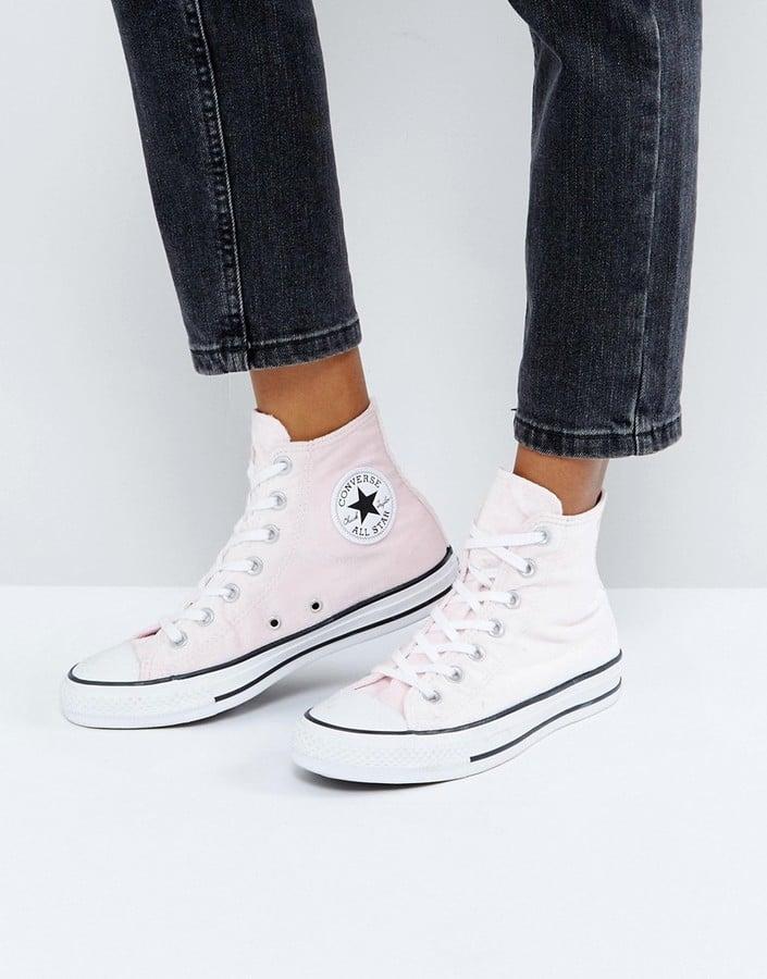 11de90c064adbf Converse Chuck Taylor All Star Velvet Hi Top Sneakers in Pink ...
