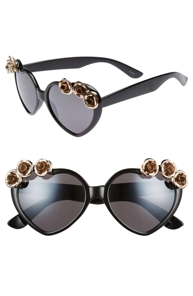 Leith Embellished Heart Sunglasses
