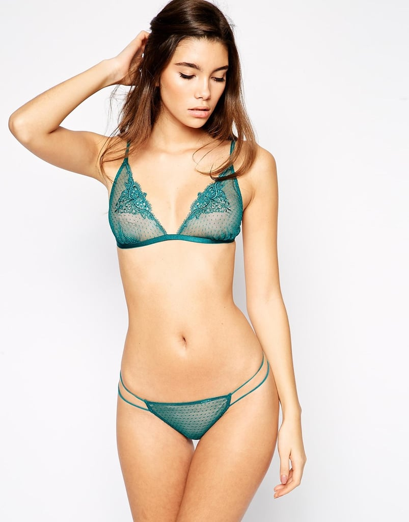 Asos Butterfly Applique Triangle Set