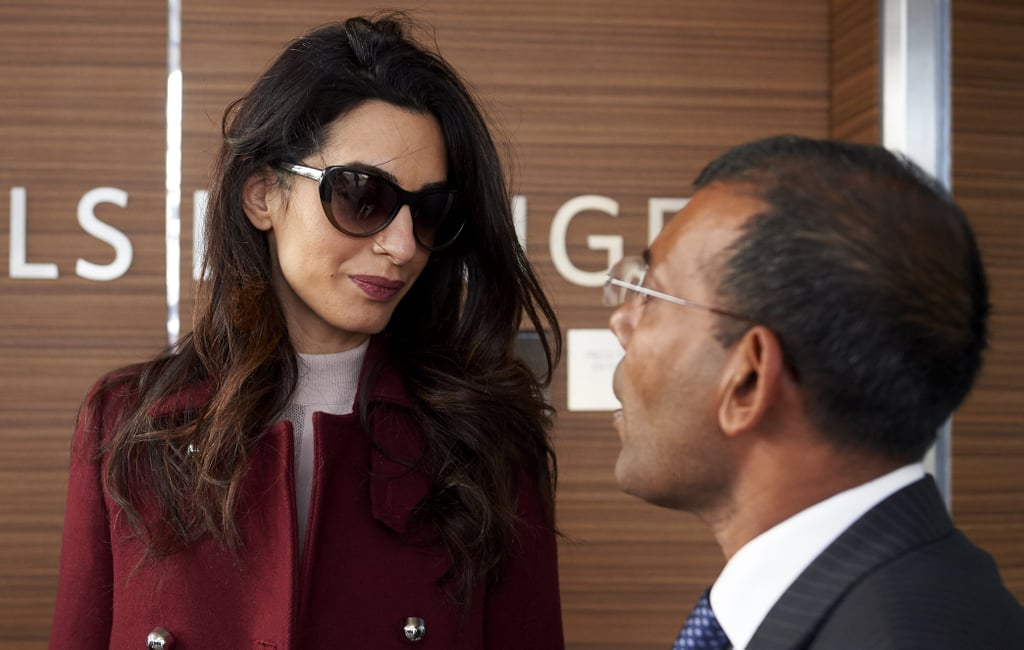 Amal Clooney Proves Pink and Red Are a Style Match Made in Heaven