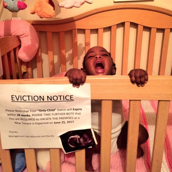 Crib Eviction Notice Pregnancy Announcement