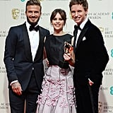 David Beckham, Felicity Jones, and Eddie Redmayne, 2015