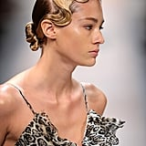 Exaggerated Finger Waves at Ermanno Scervino Spring 2020