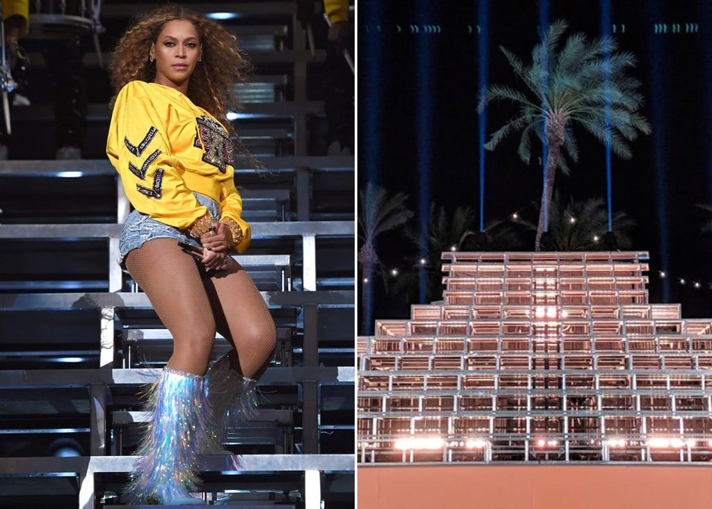 Beyoncé's Coachella Pyramid Stage on Display April 2019