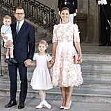 Princess Estelle Poses For a Family Photo