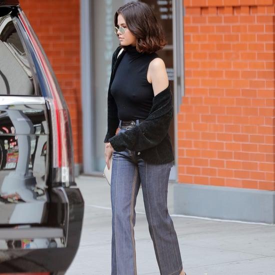 Selena Gomez Louis Vuitton Patchwork Jeans