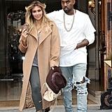 Kim Kardashian and Kanye West in Paris in 2013