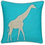 Levtex Windsong Giraffe Square Throw Pillow in Teal ($35)