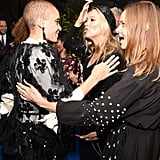 With Adwoa Aboah and Stella McCartney.