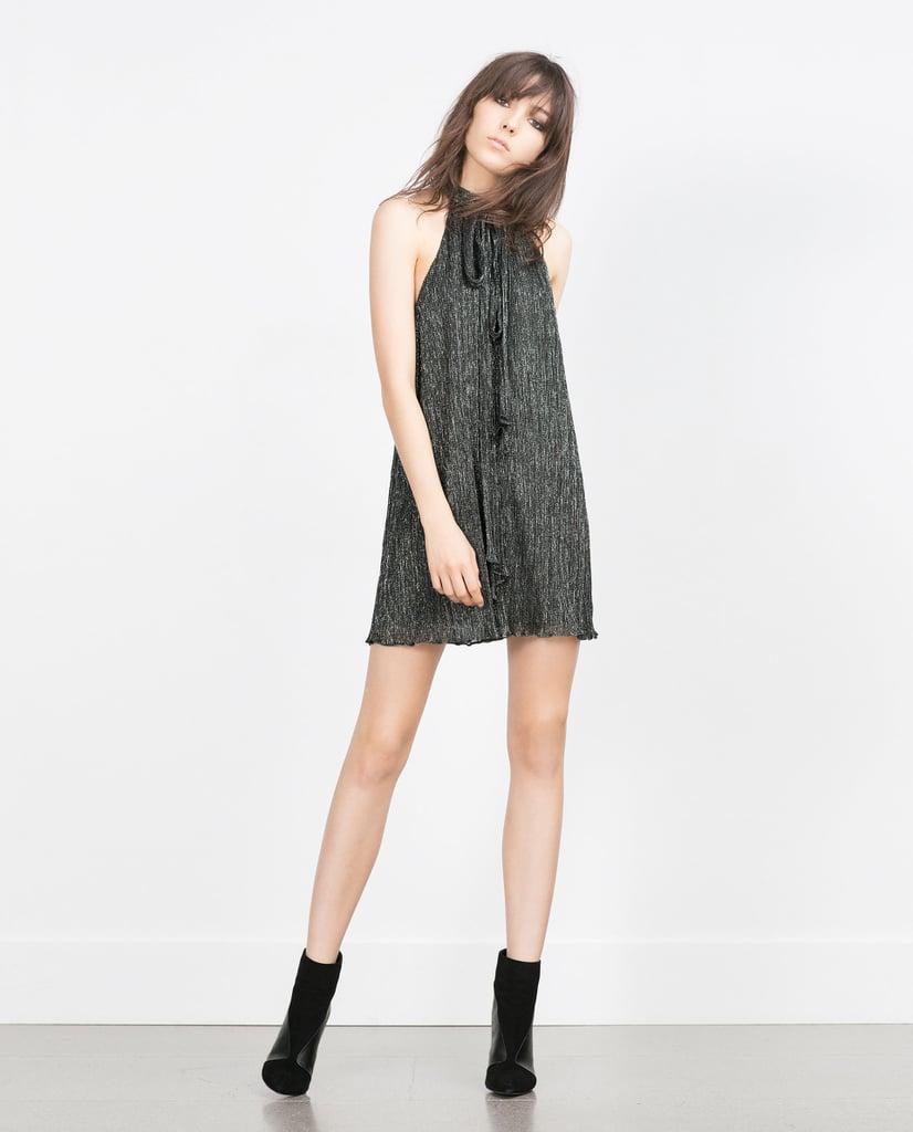Zara Halter Neck Shummer Thread Dress ($50)