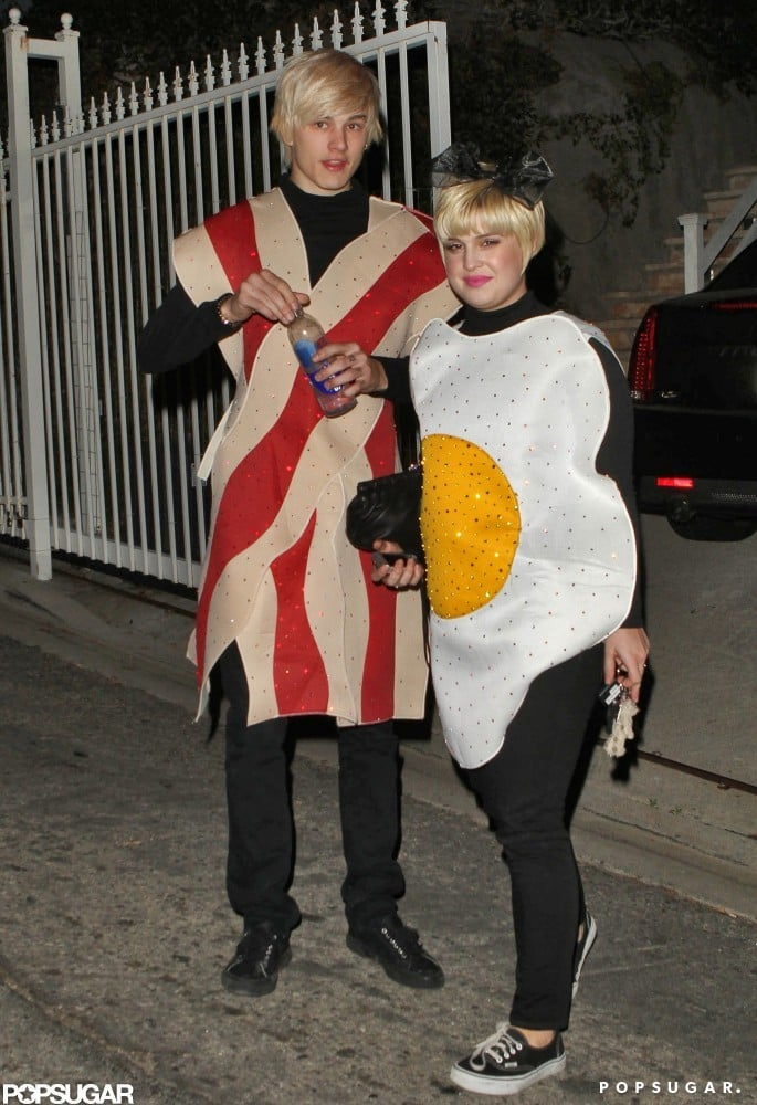 Kelly Osbourne and her then-boyfriend stepped out as bacon and eggs for a 2009 party in LA.