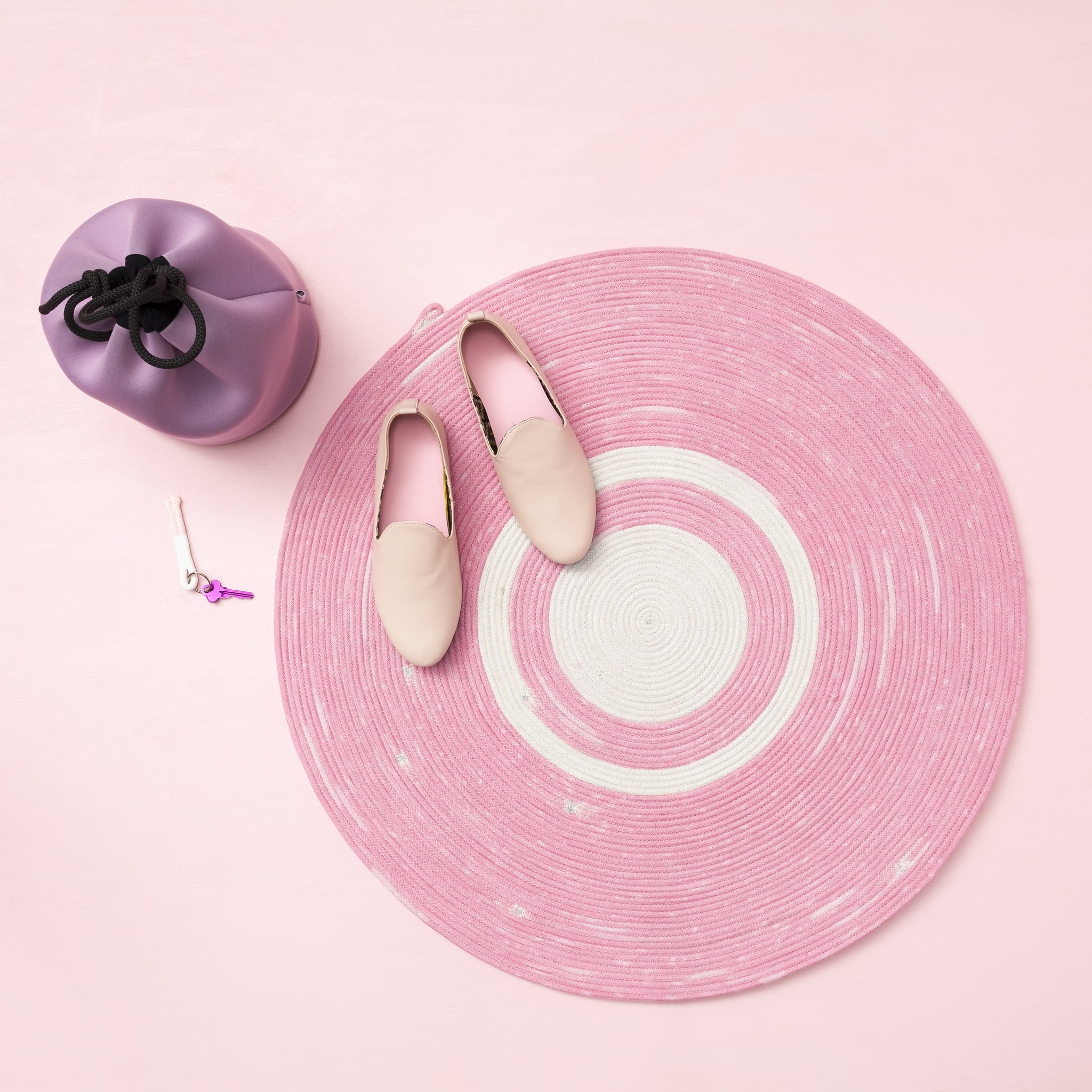 Inject Some Millennial Pink into Your Home With This DIY Floor Rug