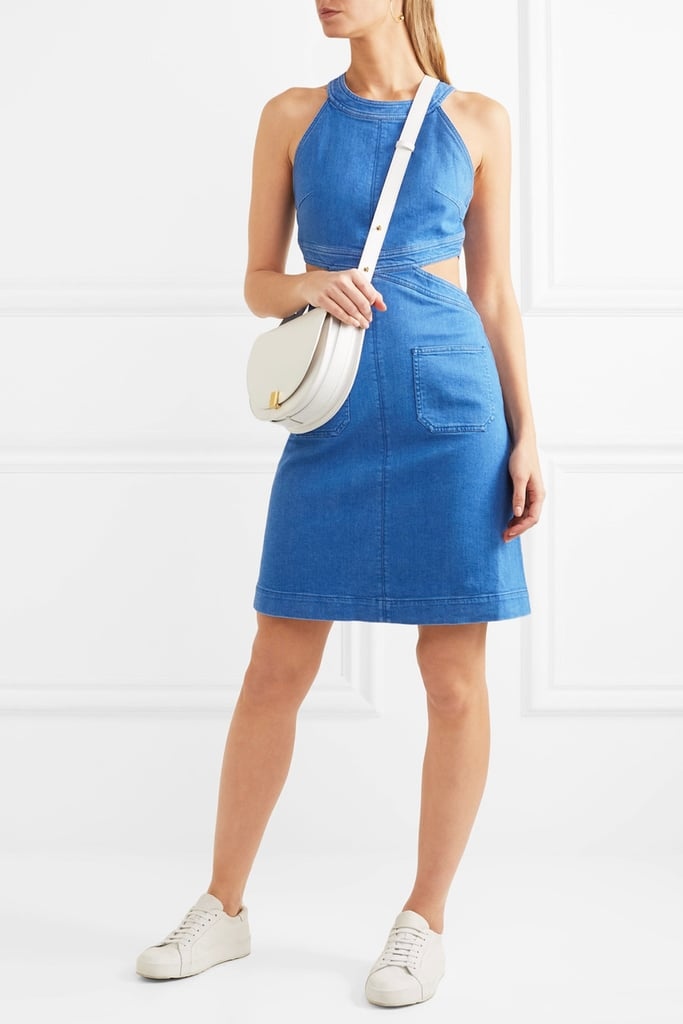 Stella McCartney Cutout Stretch-Denim Dress