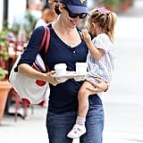 Jennifer Garner gets coffees with daughter Seraphina Affleck.