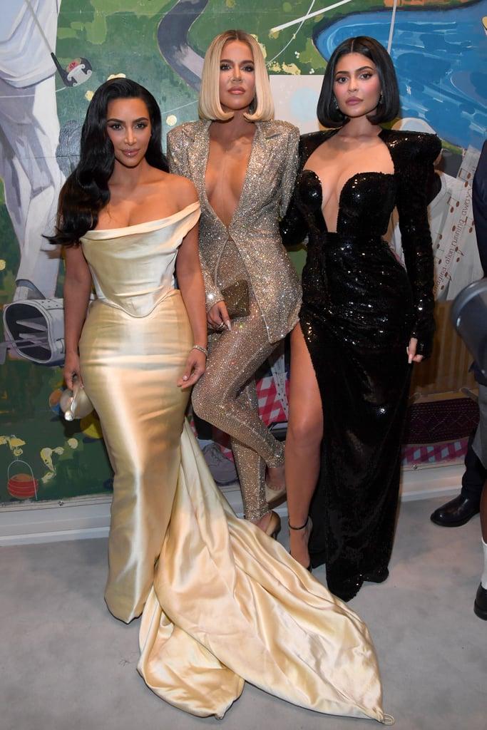 Kim Kardashian, Khloé Kardashian, and Kylie Jenner at Diddy's 50th Birthday