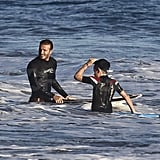 David Beckham and Brooklyn Beckham hung out in the ocean.