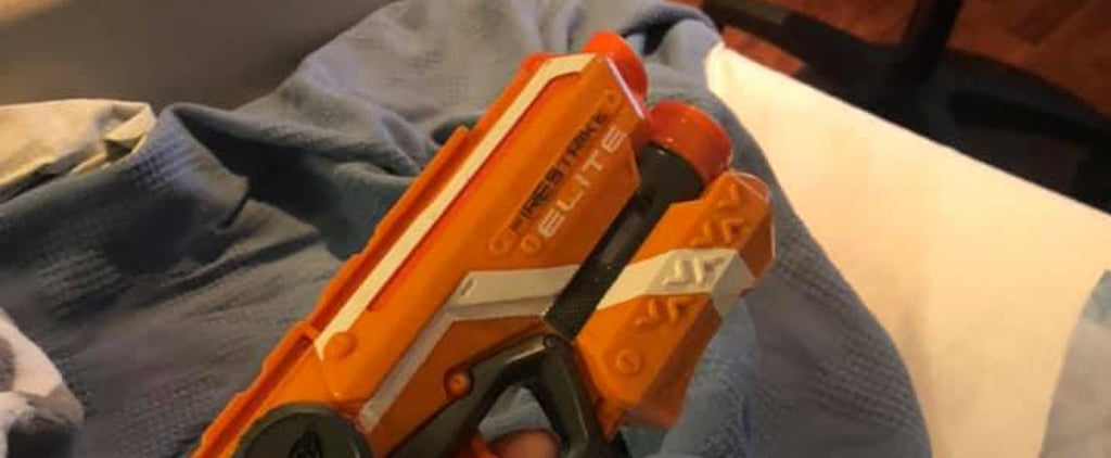 New Mom Packs Nerf Gun in Hospital Bag to Keep Husband Awake