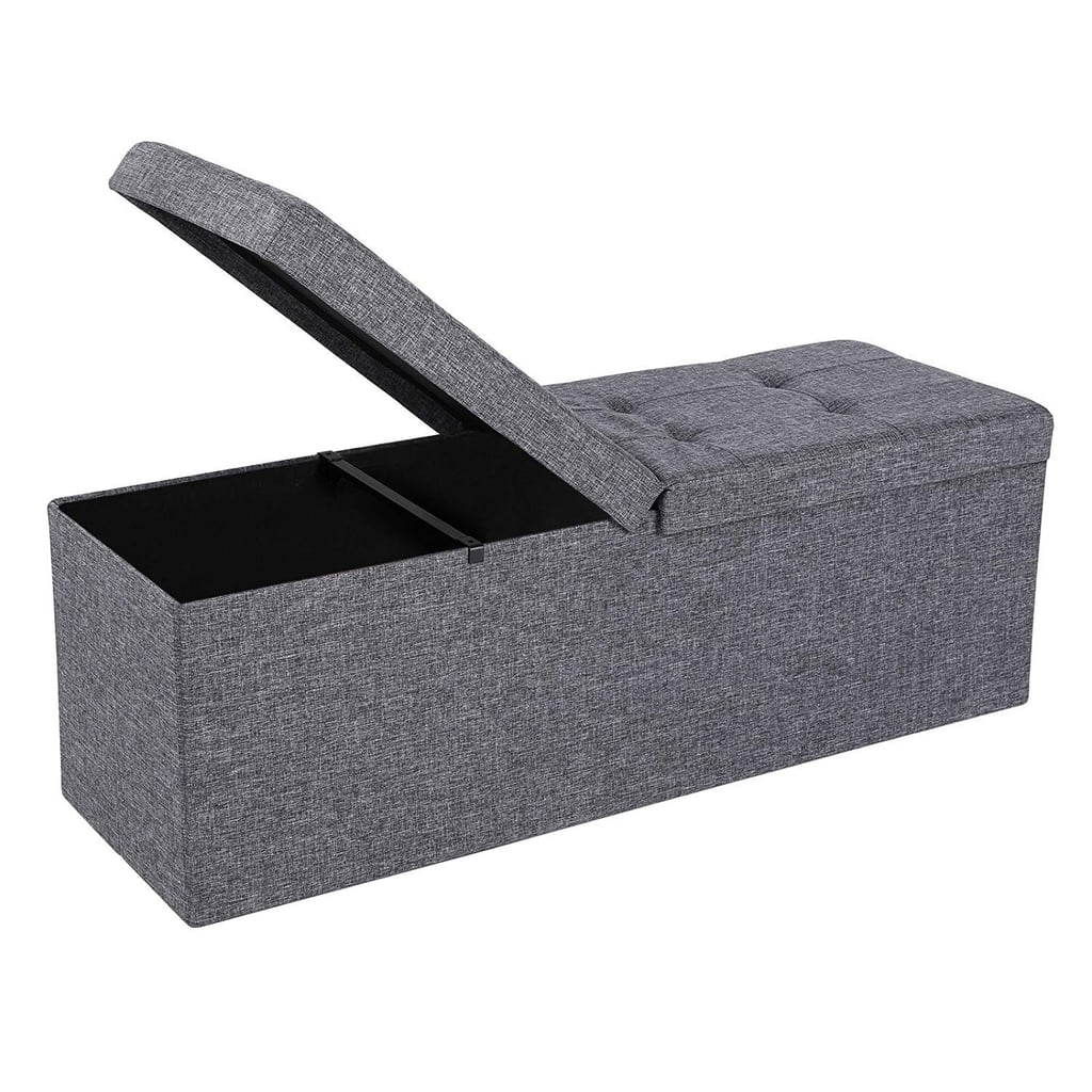 Fabric Ottoman Bench With Lift Top