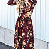 Zesica Long-Sleeve Floral Dress