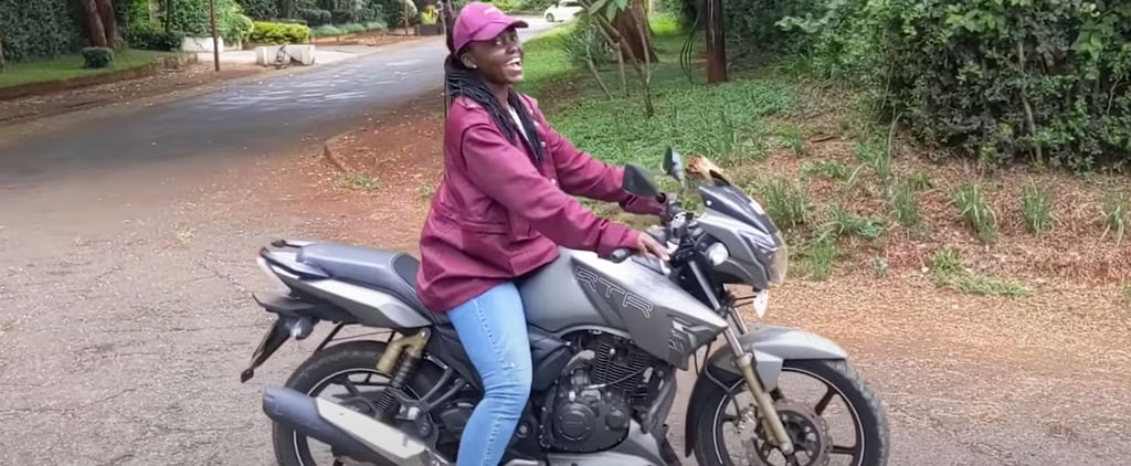 Lupita Nyong'o Learning How to Ride a Motorcycle | Video