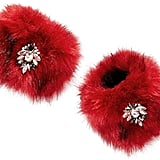 INC International Concepts Jeweled Faux-Fur Cuffs, Only at Macy's ($50)