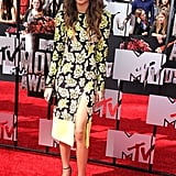 Zendaya stopped to smell — er, wear — the roses in this yellow Emanuel Ungaro dress at the 2014 MTV Movie Awards.
