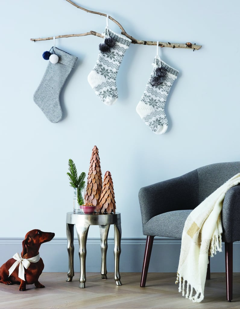 A Rustic Stocking Display