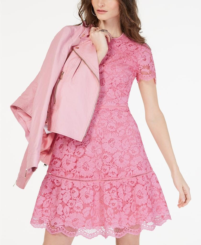 9dc67803ad31 Macys Pink Lace Dress - PostParc