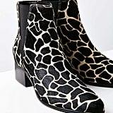 Giraffe Print Pony Hair Pola Chelsea Boot ($98)
