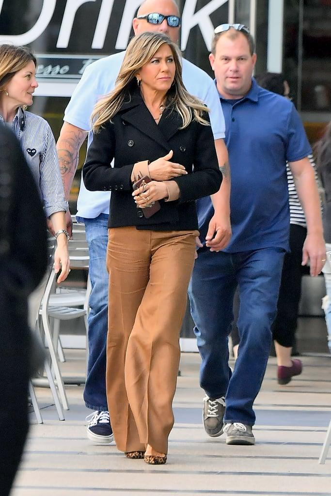 Jennifer Aniston Leopard-Print Heels