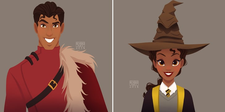 This Artist Reimagined Disney Princes and Princesses as Enchanting Hogwarts Students