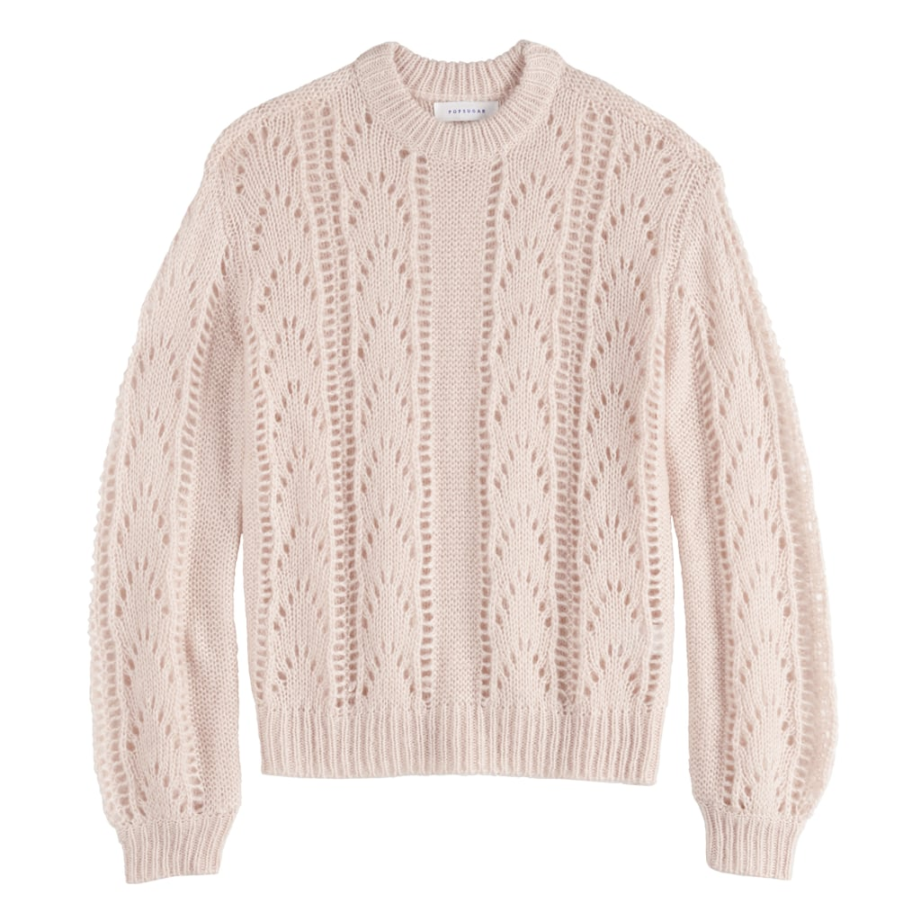 POPSUGAR Fluffy Pointelle Sweater
