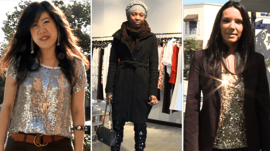 Fashion Flipbook Look of the Day: Sequins Street Style