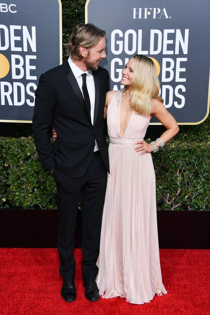 Kristen Bell and Dax Shepard at the 2019 Golden Globes