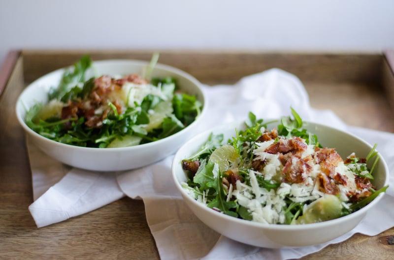 12 p.m.: Candied Lemon and Arugula Salad